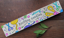 Load image into Gallery viewer, Pink knitting needle box hand painted fsc pine Laura Lee Designs