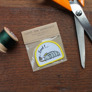 Limited Edition Cyril the woodlouse sew on patch by Laura Lee Designs
