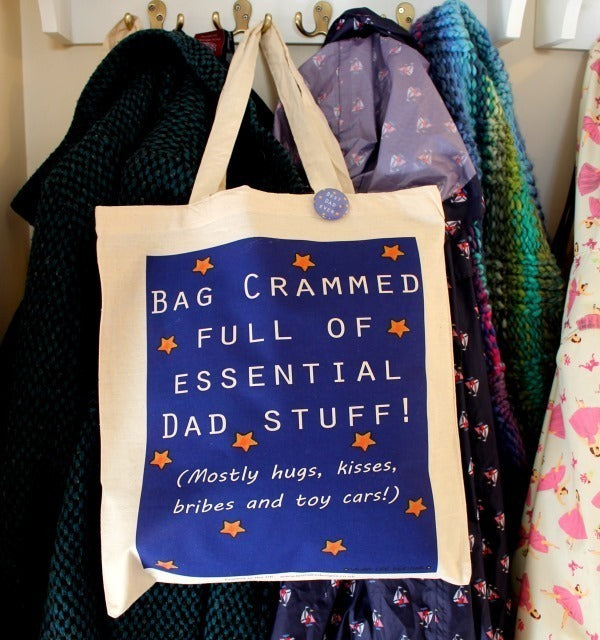 Dad stuff father's day gift bag by Laura Lee Designs Cornwall