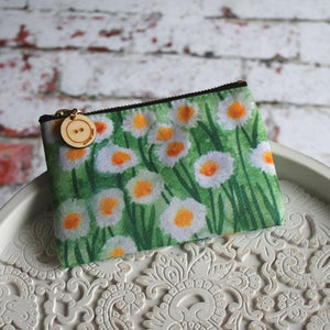 Daisies purse colourful storage by Laura Lee Designs Cornwall