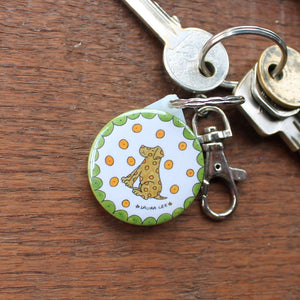 Dalmatian dog keyring by Laura Lee designs in Cornwall