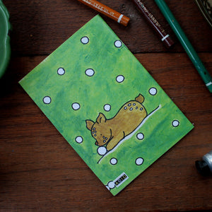 Deer and fawn notebook colourful stationery from Laura Lee Designs