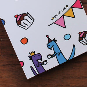 Dinosaur notebook fun stationery by Laura Lee Designs