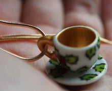 Load image into Gallery viewer, Laura Lee Designs miniature tholly teacup necklace gold and silver chain