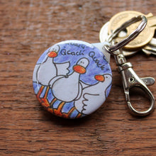 Load image into Gallery viewer, Quacking Ducks Keyring - Bag Charm - Zipper Pull - Clip On - Keys
