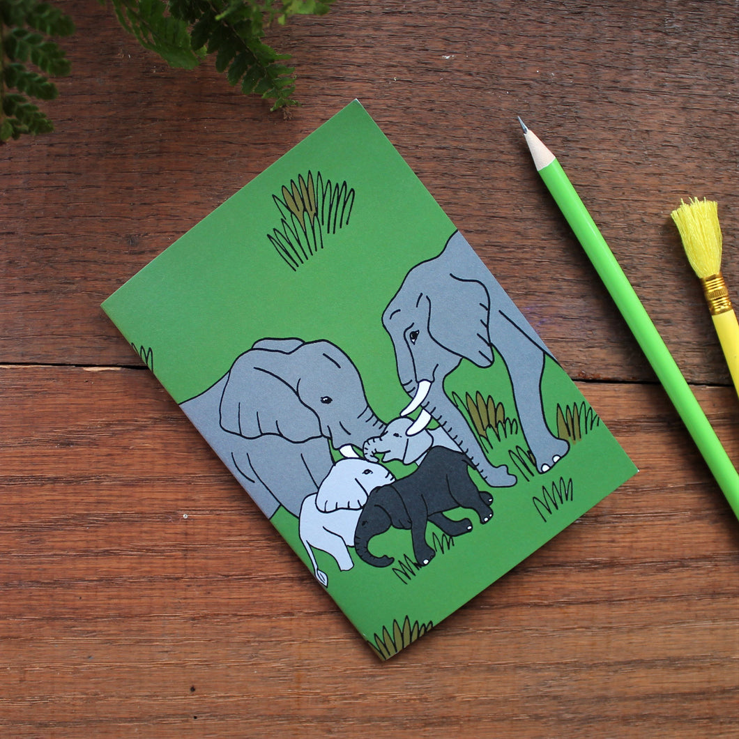 Elephant notebook by Laura lee designs Cornwall