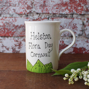 Helston flora day lily of the valley mug bu Laura Lee Designs