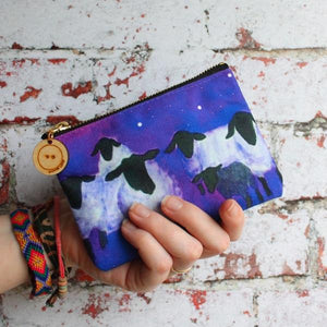 Gaxaxy sheep purses and storage pouches by Laura Lee Designs Cornwall