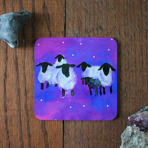 Space sheep coaster by Laura Lee Designs
