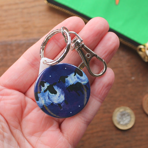 Galaxy sheep keyring by Laura Lee Designs Cornwall