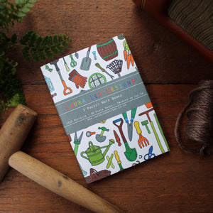 Gardener's Notebook Set - 36 Plain Pages - Pocket Size - 100% Recycled - Eco