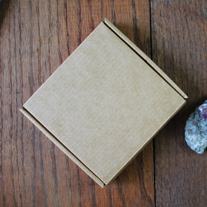 Square gift box Kraft brown card