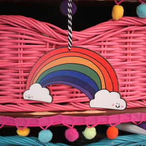 Rainbow ornament by Laura Lee Designs