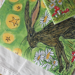 Hare notebook by Laura Lee Designs