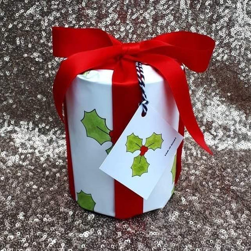 Holly gift wrap pack festive wrapping paper by Laura Lee Designs