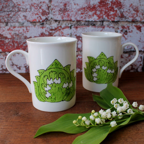 Lily of the valley mug by Laura Lee Designs in Cornwall