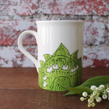 Load image into Gallery viewer, Helston flora day lily of the valley mug bu Laura Lee Designs