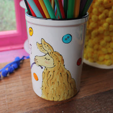Load image into Gallery viewer, Cute llama knitting needle storage jar