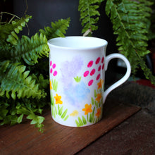 Load image into Gallery viewer, Meadow flowers hand painted mug by Laura Lee Designs