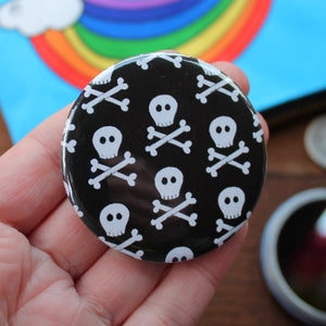 Mini skulls pocket mirror by Laura Lee Designs in Cornwall