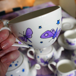 Insect teacup and saucer Laura lee designs
