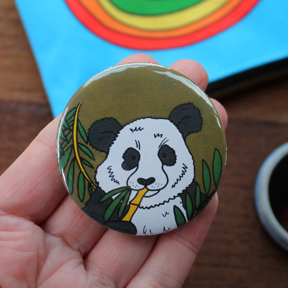 Panda pocket mirror by Laura Lee Designs Cornwall