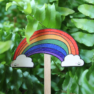 Rainbow plant stick by Laura Lee Designs