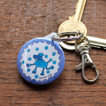 Load image into Gallery viewer, Poodle keyring by Laura Lee Designs
