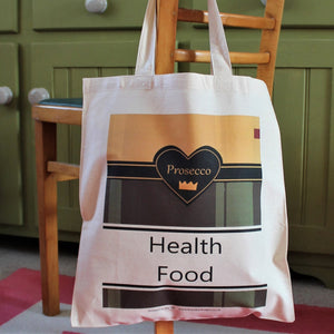 health food bag champagne gift bag by Laura Lee Designs
