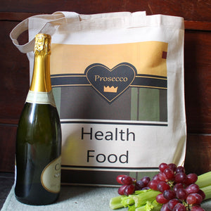 Prosecco funny wine bag by Laura Lee Designs Cornwall