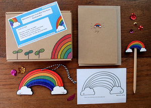 Rainbow letterbox gift by Laura Lee Designs