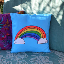 Load image into Gallery viewer, Rainbow cushion by Laura lee designs Cornwall