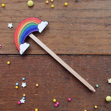 Load image into Gallery viewer, Rainbow plant stick by Laura Lee Designs
