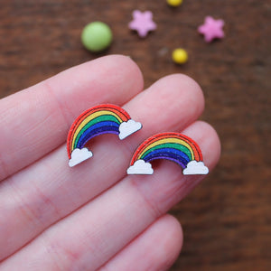 Rainbow stud earrings by Laura Lee Designs