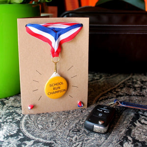 Personalised Medal & Card - Father's Day - Teacher - Key Workers - Thank You Gift