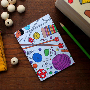 Knitting & Sewing Notebook- Single Or Set - 36 Plain Pages - Pocket Size - 100% Recycled - Eco