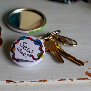 Sew what sewing keyring bag charm by Laura Lee Designs Cornwall