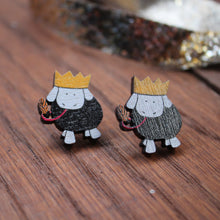 Load image into Gallery viewer, Party sheep stud earrings by Laura Lee Designs Cornwall