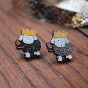Party sheep stud earrings by Laura Lee Designs Cornwall