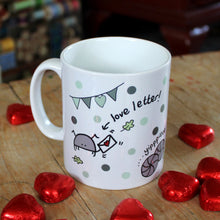 Load image into Gallery viewer, Cyril and Myrtle funny bug mug valentine's wedding gift by Laura Lee Designs