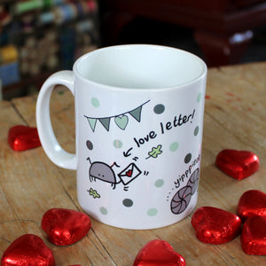 Cyril and Myrtle funny bug mug valentine's wedding gift by Laura Lee Designs