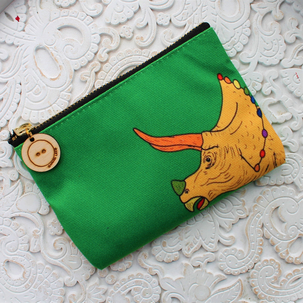 Triceratops  dinosaur purse by Laura Lee designs