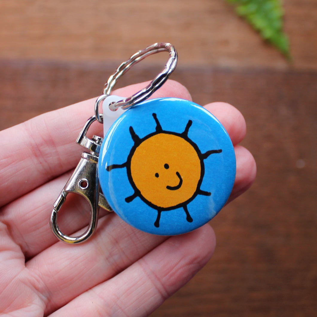 Merry Weather sun keyring by Laura Lee Designs