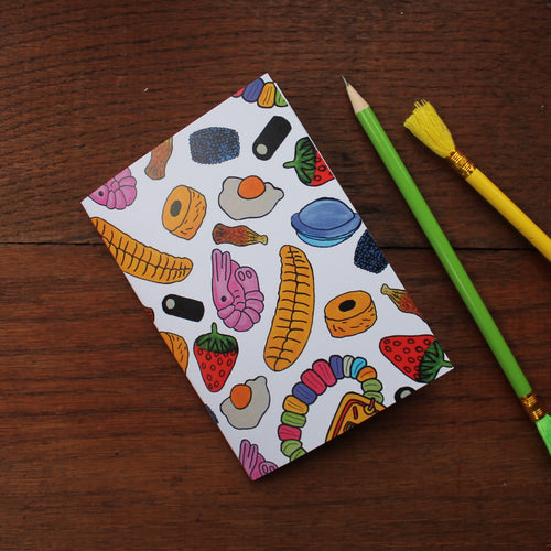 Sweet Shop Notebook- Retro- Single Or Set - 36 Plain Pages - Pocket Size - 100% Recycled - Eco