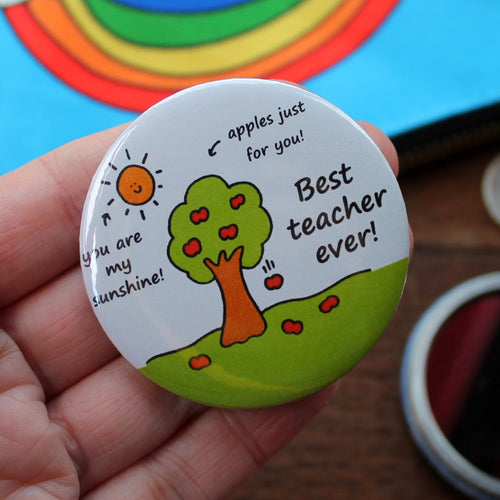 Best teacher ever pocket mirror by Laura Lee Designs