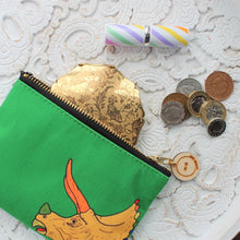 Load image into Gallery viewer, Triceratops  dinosaur purse by Laura Lee designs