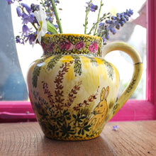 Load image into Gallery viewer, The vintage pimp trellis and roses bunny jug by Laura Lee Designs Cornwall