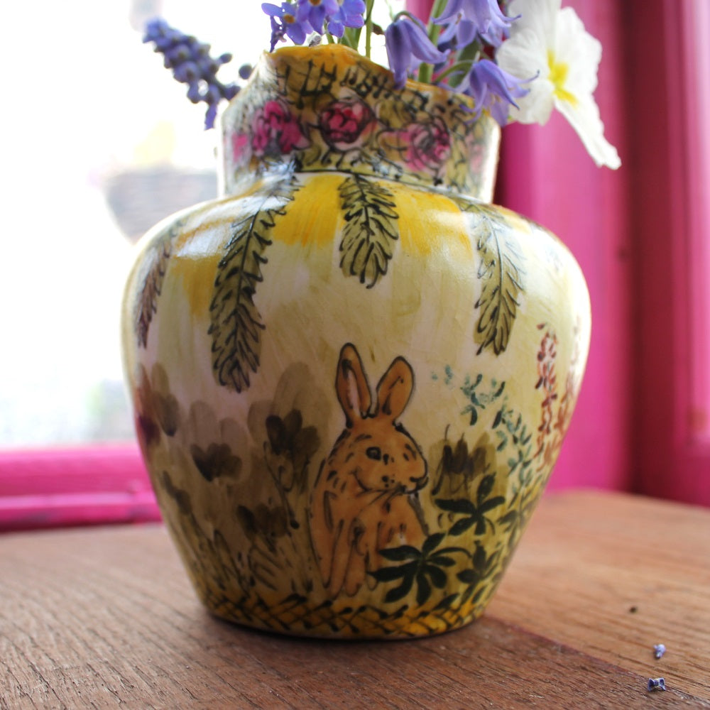 The vintage pimp bunny jug by Laura Lee Designs Cornwall