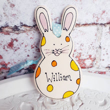 Load image into Gallery viewer, Easter decoration hanging rabbit ornament by Laura Lee Designs