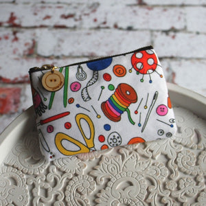 Sewing or knitting craft storage pouch Laura Lee designs Cornwall Colourful gift and homewares